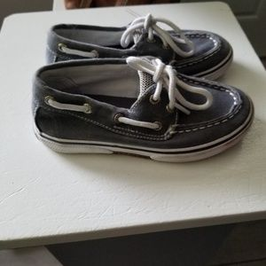 Sperry Shoes - BOYS GRAY FABRIC SPERRY SHOES EUC SZ 9